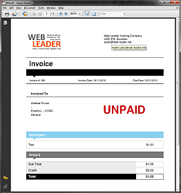 customized invoice template and pdf showcase your site whmcs